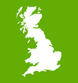map of great britain icon green vector image vector image