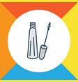 mascara icon colored line symbol premium quality vector image vector image