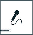microphone icon simple vector image vector image