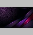 modern 3d tech futuristic dark purple background vector image vector image
