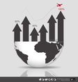 Modern design graph Business graph to success vector image vector image