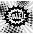 monochrome shopping comic concept vector image vector image