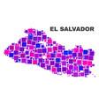mosaic el salvador map of square elements vector image vector image