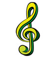 music symbol vector image vector image