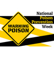 national poison prevention week concept template vector image vector image