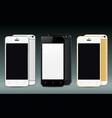 new realistic smartphones set mockups vector image