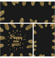new year backgrounds with fir branches vector image