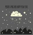 night christmas city merry xmas vector image