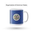 Organization of American States flag souvenir mug