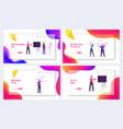 people use virtual reality futuristic technology vector image