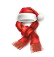 realistic santa christmas holiday 3d hat vector image