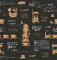 seamless background on coffee theme vector image vector image