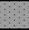 seamless pattern with black white hexagons and vector image