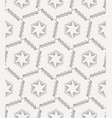 seamless stars lined geometric pattern vector image vector image