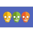 Skulls for Halloween vector image vector image
