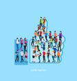 society isometric conceptual like vector image