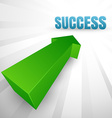 Success arrow vector image