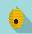 tree bee house icon flat style vector image vector image