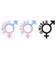 unisex symbol male and female sex sign combined vector image