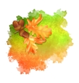 watercolor spot autumn leaves vector image vector image