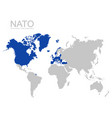 world map with nato member state vector image