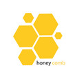 yellow honeycomb pattern white background i vector image