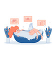 young woman relaxing in bathtub vector image