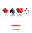 playing cards suits vector image
