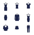 Set of icons of clothes vector image