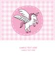 unicorn card vector image