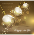 new years gold vector image