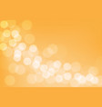 abstract white bokeh blur on orange background vector image vector image