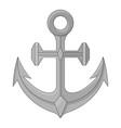 anchor gray sketch vector image vector image