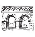 aqueduct a conduit for conveying water more vector image vector image