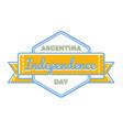 argentina independence day greeting emblem vector image vector image