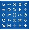 Arrow sign pack on blueprint elements