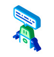 artificial intelligence chat bot isometric icon vector image vector image