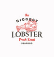 biggest lobster abstract sign symbol vector image vector image