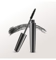 Black Mascara Brush Strokes Isolated on Background vector image vector image