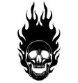 black silhouette skull image template vector image vector image