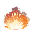 bomb explosion on ground vector image vector image