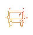 bus icon design vector image vector image