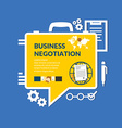 Business negotiations vector image