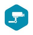 cctv camera icon simple style vector image vector image
