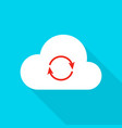 cloud technology flat icon vector image vector image