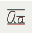 Cursive letter a thin line icon vector image vector image