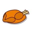 delicious chicken broast icon vector image vector image