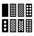 Different Type Bricks Icons Set vector image vector image