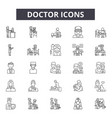 doctor line icons signs set outline vector image vector image