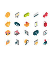 ecommerce business internet icons set isometric vector image vector image